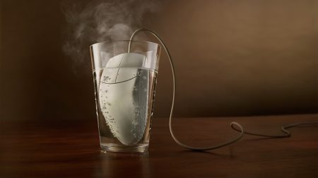 glass, steam, mouse