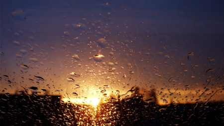 glass, surface, drops