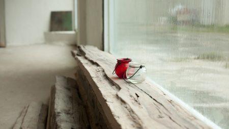 glass, window, vase