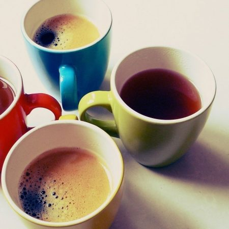 glasses, tea, coffee