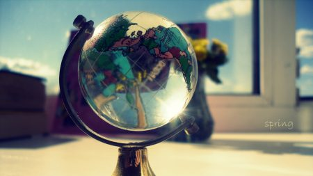 globe, glass, window