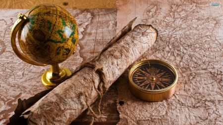 globe, map, table