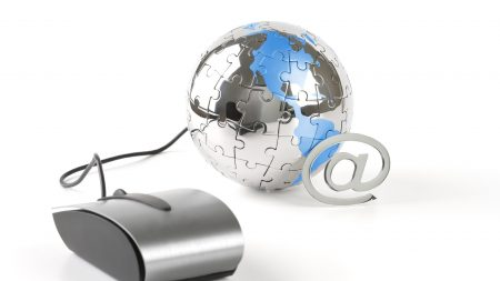 globe, puzzles, computer mouse