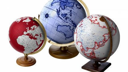 globes, colored, ball
