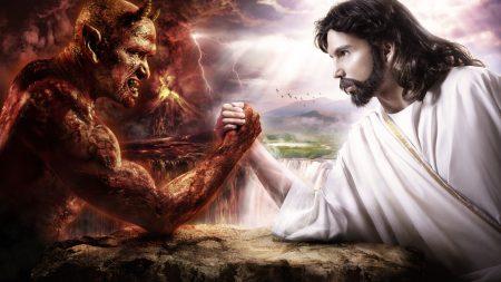 god, devil, struggle