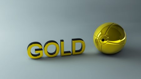 gold, letters, ball