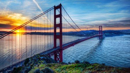 golden gate bridge, san francisco, strait