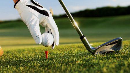 golf, ball, club
