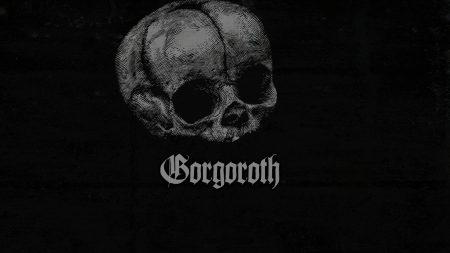 gorgoroth, skull, letters