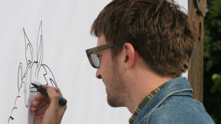 graham coxon, marker, glasses