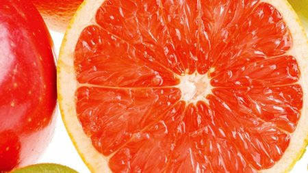 grapefruit, ripe, juicy