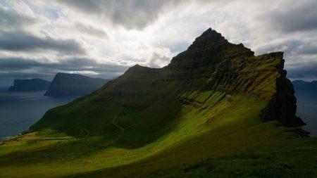 grass, mountain, hill