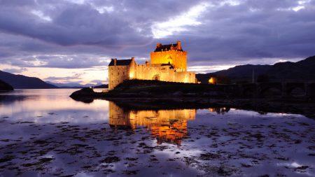great britain, scotland, castle