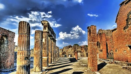 greece, columns, ruins