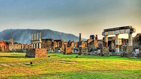 greece, ruins, grass