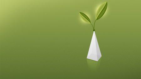 green, vase, white