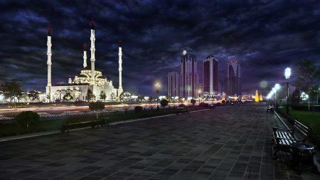 grozny, chechnya, mosque