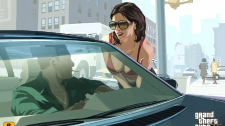 gta 4, girl, car