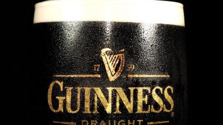 guinness draught, beer, dark glass
