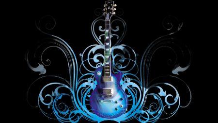 guitar, blue, pattern