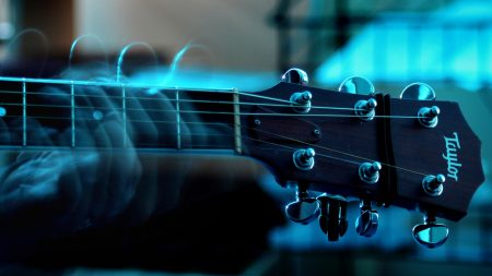 guitar, strings, neck