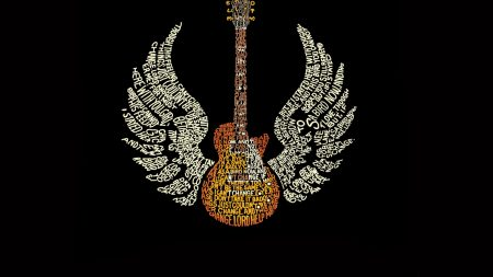 guitar, words, wings
