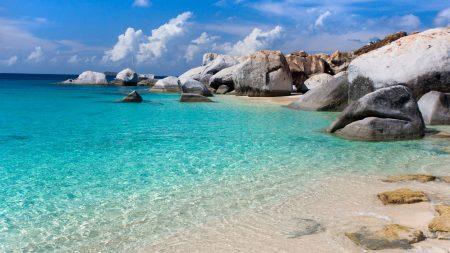 gulf, stones, blue water