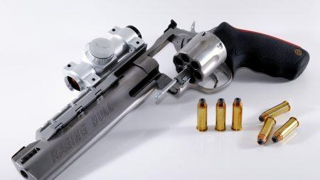 gun, bullets, metal
