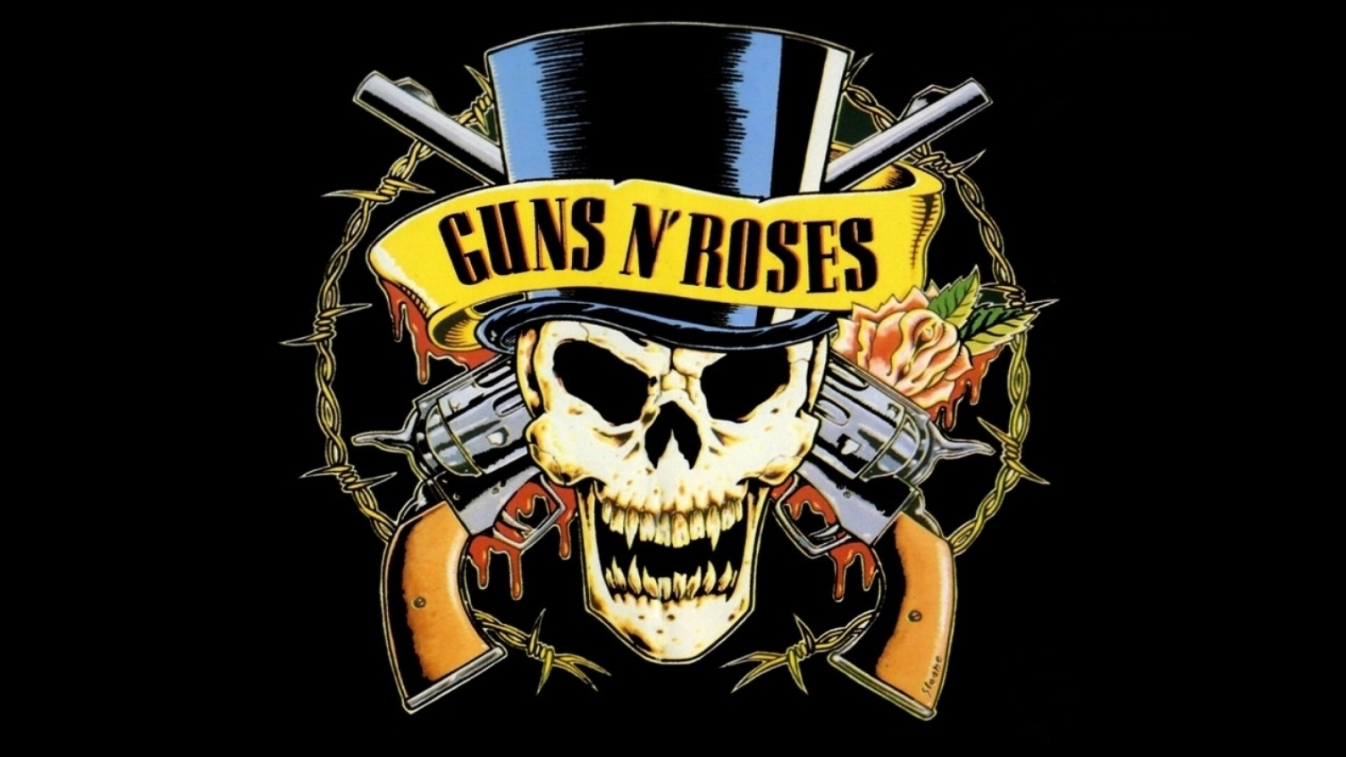 Download Wallpaper 1920x1080 guns n roses, revolvers ...