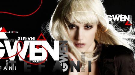 gwen stefani, letters, hair