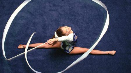 gymnastics, girl, tape