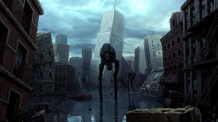 half-life, city, house