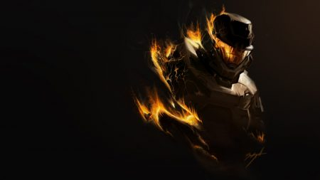 halo, fire, soldier