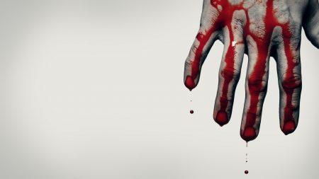hand, blood, brush