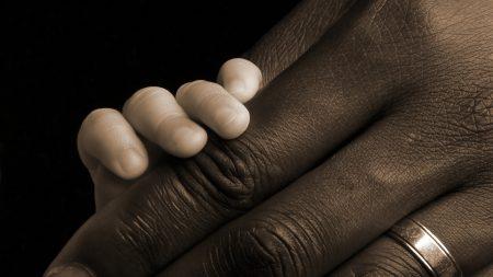 hand, child, adult