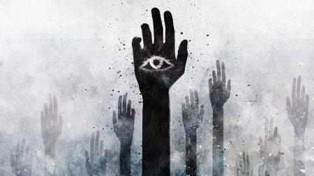 hand, eye, vector
