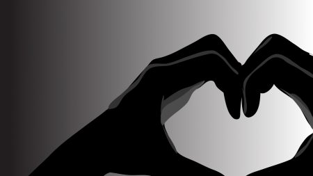 hand, shadow, heart