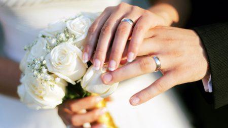 hands, wedding, rings