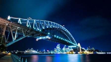 harbour bridge, sydney, night