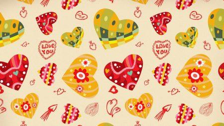 heart, background, bright