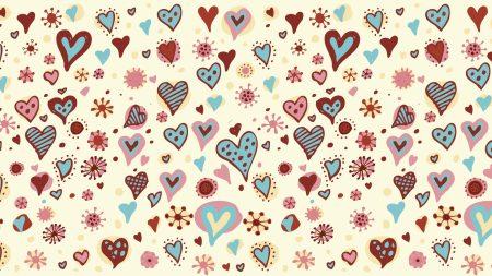 heart, background, pattern