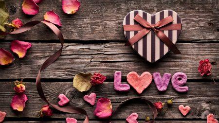 heart, boxes, petals