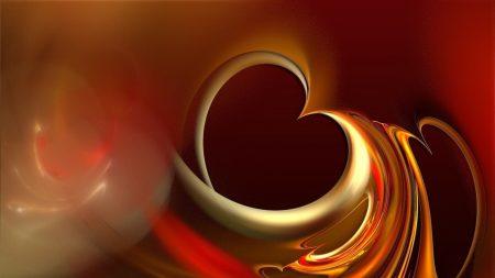 heart, brown, orange