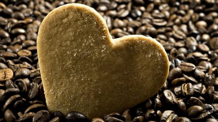heart, cookies, sugar