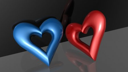 heart, couple, plastic