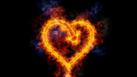 heart, fire, flame