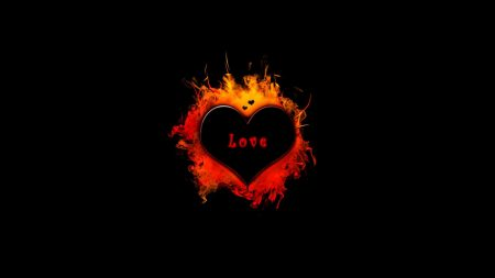 heart, flame, fire