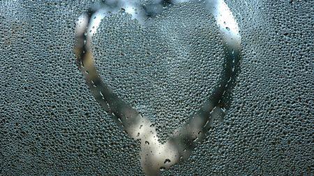 heart, glass, breathing