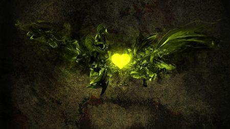 heart, light, background