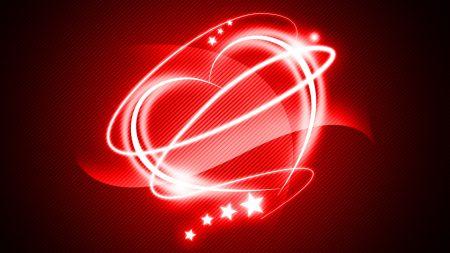 heart, light, wavy